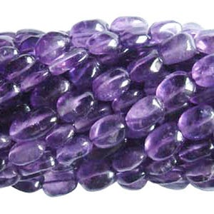 Purple Amethyst Grade A Oval Beads Approx 7x10mm-10x12mm Strand Of 26+ Pieces DW1040