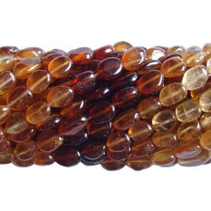 Brown Hessonite Garnet Grade A Oval Beads Approx 5x7mm-6x9mm Strand Of 36+ Pieces DW1205