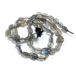Grey Labradorite Grade A Oval Beads Approx 5x7mm-8x10mm Strand Of 32+ Pieces DW1250