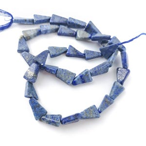 Blue Dyed Lapis Lazuli Grade A Triangle Beads Approx 7 x 12mm Strand Of 30+ Pieces DW1260