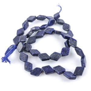 Blue Dyed Lapis Lazuli Grade A Diamond Beads 7x10mm-7x12mm Strand Of 28+ Pieces DW1275