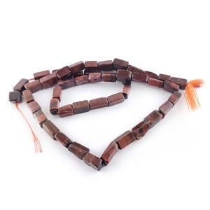 Red/Brown Tiger Eye Grade A Rectangle Beads Approx 4x6mm-6x10mm Strand Of 30+ Pieces DW1725