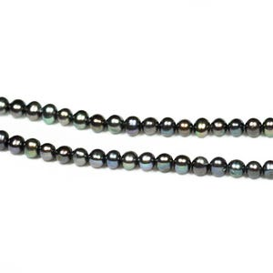 Rainbow Freshwater Pearl Round Potato Beads 6mm-7mm Strand Of 50+ Pieces FP1709-1