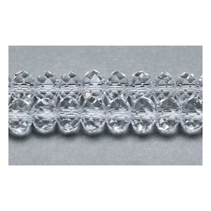 Clear Czech Crystal Faceted Rondelle Beads 4mm x 6mm Strand Of 90+ Pieces GC8846-2