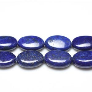 Blue Dyed Lapis Lazuli Grade A Puffy Oval Beads 13mm x 18mm Strand Of 20+ Pieces GS0217-2