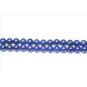 Blue Dyed Lapis Lazuli Grade A Plain Round Beads 8mm Strand Of 44+ Pieces GS0252-3