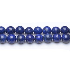 Blue Dyed Lapis Lazuli Grade A Plain Round Beads 10mm Strand Of 38+ Pieces GS0252-4