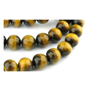 Yellow/Brown Tiger Eye Grade A Plain Round Beads 8mm Strand Of 45+ Pieces GS0373-3