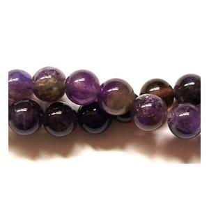 Purple Amethyst Grade A Plain Round Beads 8mm Strand Of 45+ Pieces GS0384-2