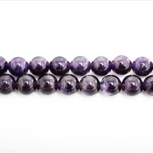 Purple Amethyst Grade A Plain Round Beads 10mm Strand Of 38+ Pieces GS0384-3