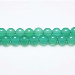 Green Onyx Grade A Plain Round Beads 4mm Strand Of 95+ Pieces GS0616-1
