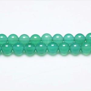 Green Onyx Grade A Plain Round Beads 8mm Strand Of 44+ Pieces GS0616-3