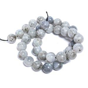 Grey Labradorite Grade A Plain Round Beads 10mm Strand Of 38+ Pieces GS0663-3