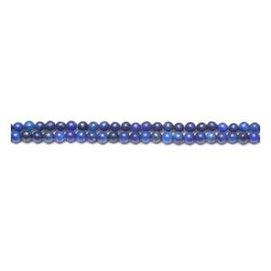 Blue Dyed Lapis Lazuli Grade A Plain Round Beads 3mm Strand Of 115+ Pieces GS10358-3