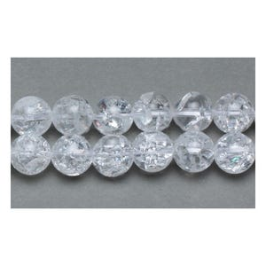 Clear Rock Crystal Grade A Plain Round Beads 10mm Strand Of 38+ Pieces GS11044-2