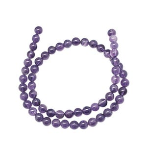 Purple Amethyst Grade A Plain Round Beads 4mm Strand Of 95+ Pieces GS1250-1