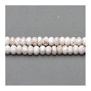 Pale Cream Magnesite Grade A Plain Rondelle Beads 4mm x 8mm Strand Of 75+ Pieces GS13045