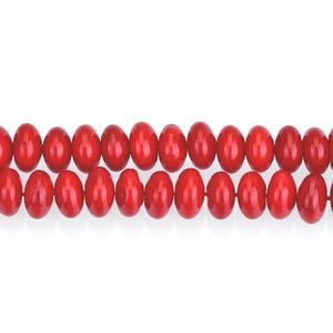 Red Dyed Coral Plain Rondelle Beads 4mm x 6mm Strand Of 95+ Pieces GS15872-4