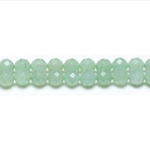 Green Aventurine Grade A Faceted Round Beads 4mm Strand Of 95+ Pieces GS1627-1
