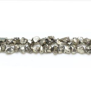 Pale Gold Pyrite Grade A Chip Beads 3mm-4mm Strand Of 120+ Pieces GS16271