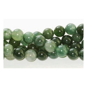 Green Moss Agate Grade A Plain Round Beads 4mm Strand Of 95+ Pieces GS1646-1