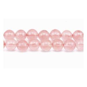 Pink Cherry Quartz Plain Round Beads 10mm Strand Of 38+ Pieces GS1651-4
