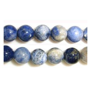 Blue Sodalite Grade A Plain Round Beads 8mm Strand Of 45+ Pieces GS1654-3
