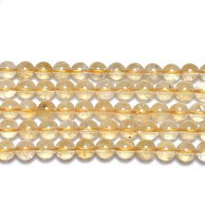 Golden Citrine Grade A Plain Round Beads 8mm Strand Of 45+ Pieces GS19289-3