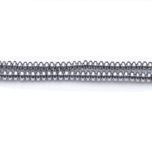 Bright Silver Hematite (Non Magnetic) Grade A Saucer Beads 3mm x 4mm Strand Of 100+ Pieces GS19791
