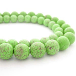 Pale Green Dyed Howlite Grade A Plain Round Beads 10mm Strand Of 38+ Pieces GS2479-3
