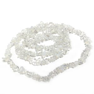 Clear Opalite Chip Beads 5mm-8mm Long Strand Of 240+ Pieces GS3073