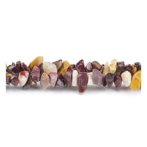 Multicolour Mookaite Grade A Chip Beads 5mm-8mm Long Strand Of 240+ Pieces GS3078