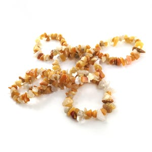 Yellow Honey Jade Grade A Chip Beads 5mm-8mm Long Strand Of 240+ Pieces GS3137