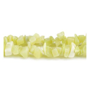 Yellow Serpentine Grade A Chip Beads 5mm-8mm Long Strand Of 240+ Pieces GS3182