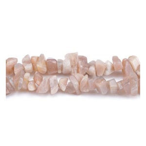 Peach Sunstone Grade A Chip Beads 5mm-8mm Long Strand Of 240+ Pieces GS3218
