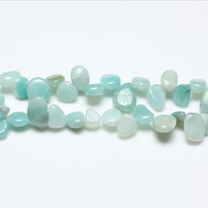 Turquoise Amazonite Grade A Drop-Style Chip Beads 10mm-14mm Strand Of 40+ Pieces GS3228