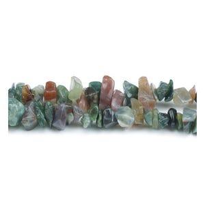 Multicolour Fancy Jasper Grade A Chip Beads 5mm-8mm Long Strand Of 240+ Pieces GS3232