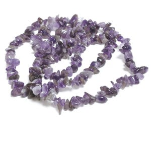 Purple Amethyst Grade A Chip Beads 5mm-8mm Long Strand Of 240+ Pieces GS3244