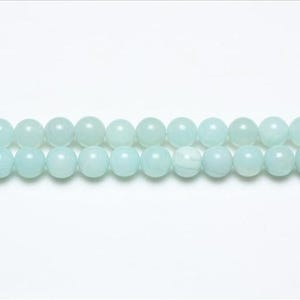 Turquoise Amazonite Grade A Plain Round Beads 8mm Strand Of 44+ Pieces GS4783-3