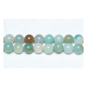Multicolour Amazonite Grade A Plain Round Beads 10mm Strand Of 38+ Pieces GS4795-4