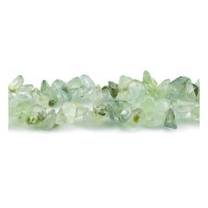 Green Prehnite Grade A Chip Beads 5mm-8mm Long Strand Of 240+ Pieces GS5201