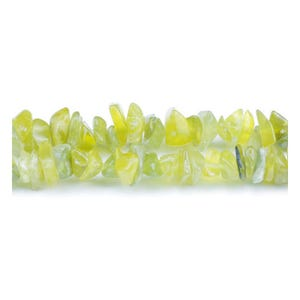 Yellow Serpentine Grade A Chip Beads 5mm-8mm Long Strand Of 240+ Pieces GS5205
