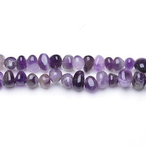 Purple Amethyst Grade A Smooth Nugget Beads Approx 8x7mm-13x9mm Strand Of 48+ Pieces GS5430