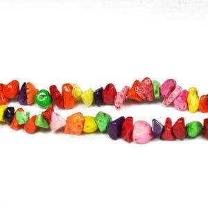 Multicolour Magnesite Grade A Chip Beads 6mm-12mm Strand Of 70+ Pieces GS5491