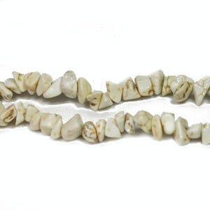 Cream Magnesite Grade A Chip Beads 6mm-12mm Strand Of 70+ Pieces GS5494