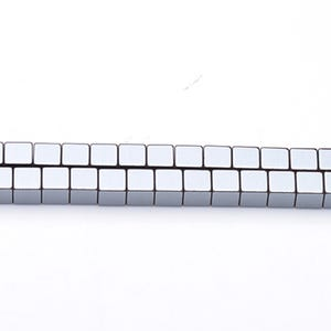 Grey Hematite (Non Magnetic) Grade A Cube Beads 6mm Strand Of 62+ Pieces GS6861-1