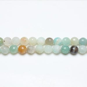 Multicolour Amazonite Grade A Faceted Round Beads 8mm Strand Of 44+ Pieces GS8123-2