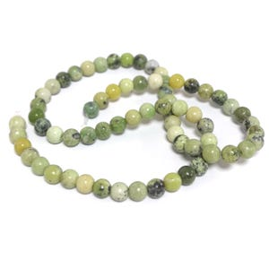 Green/Black Chrysoprase Grade A Plain Round Beads 6mm Strand Of 60+ Pieces GS8286-1