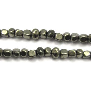 Pale Gold Pyrite Grade A Smooth Nugget Beads 8mm-10mm Strand Of 40+ Pieces GS9081