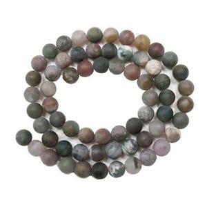 Multicolour Fancy Jasper Grade A Plain Round Beads 8mm Strand Of 45+ Pieces GS9483-2